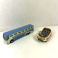 (2) Disney Test Track Car + Disney's Magical Express Bus Diecast Lot