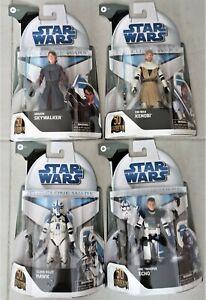 lot de 4 star wars black series clone wars 50th neuf
