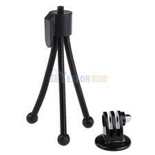 Flexible Mini Tripod Stand + Tripod Mount Adapter for GoPro Hero 1 2 3 3+ #3YE