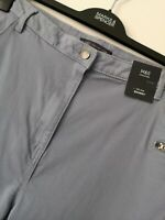 LADIES M&S SIZE 22 REGULAR DUSTY BLUE MID RISE SKINNY STRETCH JEANS FREE POST