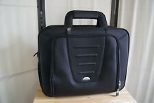 Mens Samsonite Black Laptop Briefcase Top Load Travel Bag Trolley Sleeve Strap