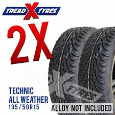 2x 195/50R15 Technic Speed All Weather Fitting Available Two 195 50 15 Tyres x2