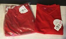 NWT Urbane Ultimate Scrub Set In Red Size Small Top / XSmall Bottoms
