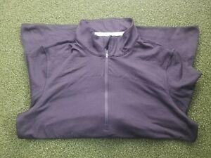 PUMA Golf Size L Warm Cell Blend Zipper Black Pullover  / gw00415