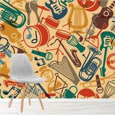 Musical Instruments Wall Mural Wallpaper WS-42342
