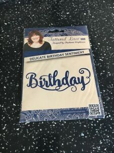 Tattered Lace Delicate Birthday Sentiment Die