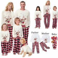 Familie Passende Weihnachten Pyjamas Erwachsene Kinder Baby Nachtwäsche Outfits.