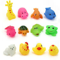 12 pcs/Lot Mixed Different Animal Bath Toys Children Washing Education Toys edrg
