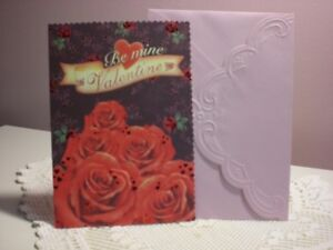Carol's Rose Garden - Valentiine card - Red Roses  on the cover