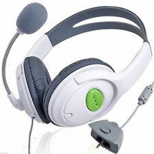 Gaming Stereo WHITE Headset Headphones Microphone for Xbox 360 Wired Online Chat