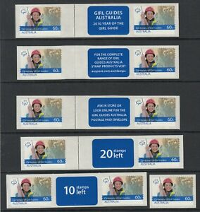 2010 Centenary Girl Guides Collector Pack, 5 gutter pairs + 1 single. P& S. MUH