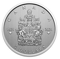 🇨🇦 New Canada $5 Five Dollars Silver Coin, THE ARMS OF CANADA, 2021