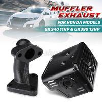 Muffler Exhaust Assembly & Manifold For Honda Models GX340 11HP GX390 13HP