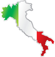 """Italy Country Flag Map Car Bumper Window Mirror Sticker Decal 4""""X5"""""""