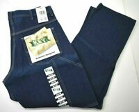 Vintage NOS Key Men's 34x30 Dark Washed 100% Cotton Carpenter Denim Blue Jeans
