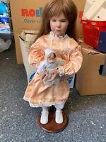 Porzellan Puppe 67 cm. Top Zustand