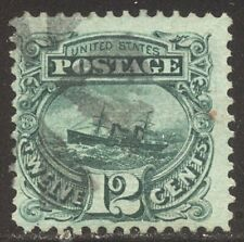 U.S. #117 Used - 1869 12c Green ($130)