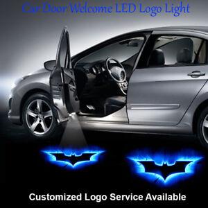 2pcs Blue Batman Logo Car Door Laser Projector CREE LED Lights Wired Universal