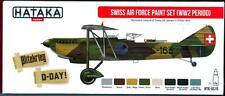 Hataka Hobby Paints SWISS AIR FORCE WORLD WAR II PERIOD Acrylic Paint Set