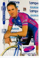 CYCLISME  carte cycliste MARCO SERPELLINI équipe LAMPRE daikin 2000