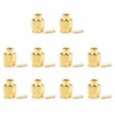 "10Stk Connector SMA Male Stecker Plug Solder RG402 0.141"" Semi-rigid Cable"
