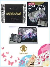Roberto Cavalli Floral & Leopard Padded Cosmetics,Makeup bag,Pouch 2pcs set