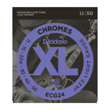 D'Addario ECG24 Chromes Flat Wound Jazz Light 11-50 Guitar Strings