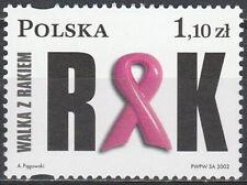 Poland 2002 - Fight against cancer - Fi 3852 MNH**