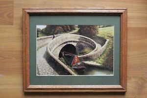 """Small Framed """"Roving"""" Lithograph Print By Alan Firth"""