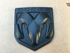 NEW DODGE MATTE BLACK 3M EMBLEM HOOD OR TRUNK TAILGATE LOGO FENDERS BADGE