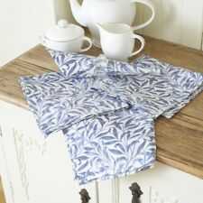 William Morris Willow Bough Blue Pack of 4 Cotton Floral Napkins