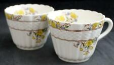 Spode BUTTERCUP 2 Tall Flat Cups Vintage Backstamp 2/7873 GREAT CONDITION