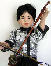 "Quality Replica Mini 13"" Chinese Oriental Erhu with box for Magic Attic Dolls"
