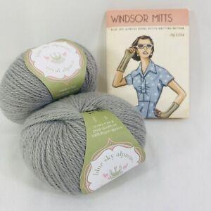 Blue Sky Alpaca Yarn & Windsor Mitts Knitting Pattern w/ 2 Balls of Royal Alpaca
