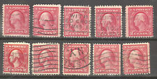 10 Unchecked 2c Red Washington ...Used... 10 Stamps