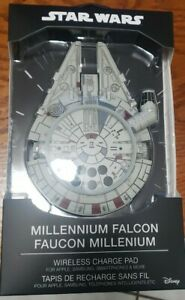 STAR WARS MILLENIUM FALCON WIRELESS PHONE CHARGER PAD W/ AC ADAPTER