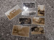 MEDLEY OF OLD ORIGINAL CAR PHOTOGRAPHS AS ONE LOT   X 9