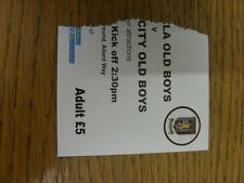 05/09/1999 Ticket: At Coventry Marconi, Coventry City Old Boys v Aston Villa Old