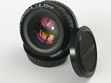 Pentax-A SMC 50mm 1:2 Fixed Prime Lens PK Mount With 2 Pentax Caps Excellent