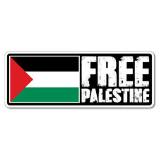 Free Palestine Sticker Flag Bumper Water Proof Vinyl #7500EN