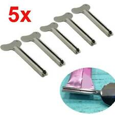 5x Stainless Steel Tube Toothpaste Squeezer Key Wringer Easy Squeeze Tools