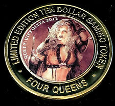 .999 Silver Strike • Four Queens • Vegas •Queen Hippolyta 2012 Colorized•Red Cap