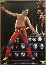 Original Vintage Poster Freddie Mercury Queen 1980s Music Memorabilia pinup