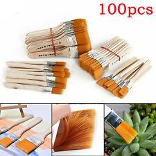 100 tlg Malerpinsel Set Flachpinsel Farbpinsel Lackpinsel Eckenpinsel Lasur Satz