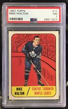 1967/68 TOPPS MIKE WALTON TORONTO MAPLE LEAFS CARD #15 PSA 7 NM CONDITION