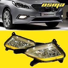 2015-2017 Hyundai Sonata Clear Bumper Driving Fog Lights Lamps+Bulbs+Switch Pair