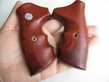 S&W J FRAME SQUARE BUTT REVOLVER GRIP CHIEFS SPECIAL SMOOTH HARD WOOD FREE SHIP