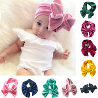 Toddler Newborn Cute Baby Girls Kids Bowknot Headband Stretch Hairband Headwear