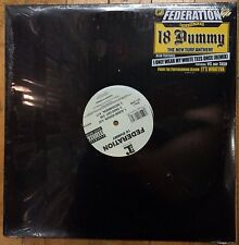 """Federation """"18 Dummy/Only Wear My White Tees Once"""" [12 inch vinyl] single NEW"""