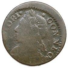 1787 11.1-E R-2 Connecticut Colonial Copper Coin